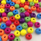 10/50/100/500pcs Mix Wood Beads Buttons Crafts For Kid's Sewing DIY10mm W334