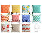 SLIGHT DEFECTS - Colourful Bright Geometric Cushion Covers Modern Floral Pillows