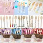 WOODEN CUTLERY SETS - Disposable - Birthday Party/Buffet/Picnic/BBQ/Camping