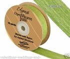 Full Roll Open Weave Jute Ribbon x 10yds - Pistachio Green - Craft Wedding