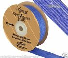 Full Roll Open Weave Jute Ribbon x 10yds - Blue - Craft Vintage Wedding
