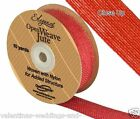Full Roll Open Weave Jute Ribbon x 10yds - Red - Craft Vintage Wedding