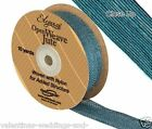 Full Roll Open Weave Jute Ribbon x 10yds - Teal - Craft Vintage Wedding