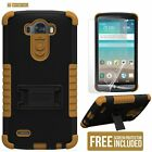 Multi-Layer Rugged Shockproof Case w/Stand Skin Anti-Impact Cover for LG Models