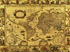 World Map VII- 1499 - CANVAS OR PRINT WALL ART