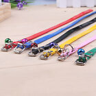 Colorful Dog Cat PU Leather Necklace Pet Leash Retractable Dog Collar Chain