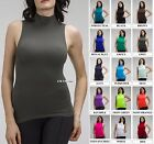 Внешний вид - Women Sleeveless Mock Neck Shirt Turtleneck Tank Top Stretch Slim Fit Tee Shirt