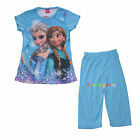 DISNEY FROZEN QUEEN ELSA AND ANNA DRESS COSTUME NIGHTIE PYJAMAS SIZE 2-6