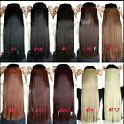 "One Piece Full Head Set Clip In Human Hair Extensions 20""100g Hair Extension"