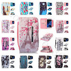 Card Slots Cash Compartment Pocket Case For Phones Synthetic Leather+Strap Cover