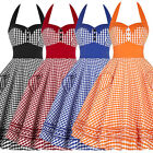 Retro Vintage Style Dress Women's Summer Beach Party Housewife Swing Pinup Dress