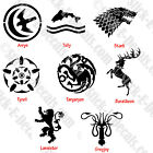 Game of Thrones House Sigils Decal Sticker FREE USA SHIPPING!