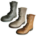 Steve Madden Womens Munch Leather Military Style Boot