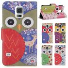 Retro Owl PU Leather Stand Case Wallet Cover For Samsung Galaxy S5 Mini G800
