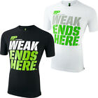 MusclePharm 2016 Crew Neck 'Weak Ends Here' Logo Cotton Hommes Fitness T-Shirt