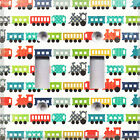 Colorful ToyTrains~Light Switch Cover~Kids Room Decor~Choose Your Plate~