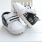 Black Toddler infant Baby boy girl Soft Sole Crib Shoes sneaker size 0 18 Months