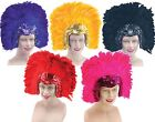 Ladies 1920s Flapper Showgirl Drag Queen Feather Headdress Fancy Dress Costume