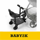 Be Cool Skate Wheeled Ride on Board for Buggy to fit Quinny Buzz Xtra - Black