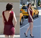 ZARA BURGUNDY LACE FAUX LEATHER DRESS SIZE MEDIUM REF 7288 260