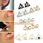 Personality Pair Geometric Triangle/Square/Infinity Ear Stud Earring Jewelry HOT