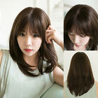 Fashion Women's Short Straight Natural Brown Wig Synthetic Hair Cosplay Wear