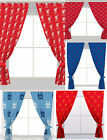CURTAINS SET 66x72 NEW OFFICIAL FOOTBALL CLUB READY MADE PENCIL PLEATED RED NEW