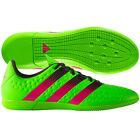 adidas Ace 16.3 IN Indoor  2016 Low Soccer Shoes Brand New Green / Pink