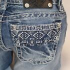 Miss Me Aztec Ankle Detail Cuffed Skinny Leg Lowrise Stretch Jeans JP7680CK2 NEW