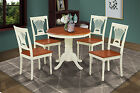 "36"" ROUND DUBLIN DINETTE KITCHEN DINING ROOM TABLE CHAIR SET WITH 9"" LEAF"