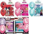 """18 (3  Packs of 6) Licensed Character 12"""" Helium Quality  Latex Balloons"""