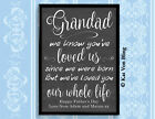 MUM MUMMY WE'VE LOVED YOU OUR WHOLE LIFE Design Print Frmd Mothers Day Birthday