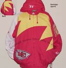 Vintage 90s Kansas City CHIEFS Logo Athletic JACKET SHARKtooth NFL ProLine NWT