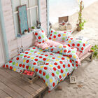 Apple Summer Single Double Queen King Size Bed Set Pillowcases Quilt Duvet Cover