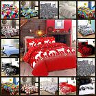 Printed Duvet Cover Set Bet Sheet Quilt Bedding Pillow Cases Single Double King