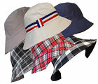 UNISEX MEN LADIES REVERSIBLE 100% COTTON SUMMER BUCKET/BUSH HATS
