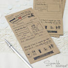 VINTAGE WEDDING ADVICE CARDS for Bride/Groom-Guest Book Alternative/Wishes/Kraft