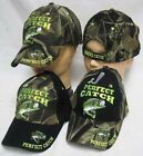 PERFECT CATCH FISHING HAT Baseball Cap Great hat for Bass Fishing & Fisherman
