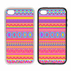 Pink Aztec Pattern -Rubber and Plastic Phone Cover Case- Abstract Design
