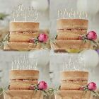 WOODEN CAKE TOPPERS - Boho Rustic Design - Wedding/Birthday/Xmas Cake Decoration