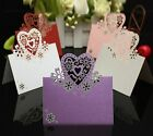 50PCS Kamay's Invitation Card Flowers Lace Heart Place Cards For Weddings Party