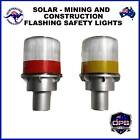 SOLAR WARNING LIGHT MINES FLASHING STROBE BEACON TRAFFIC CONSTRUCTION SAFETY
