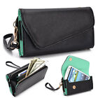 Fad Bicast Leather Protective Wallet Case Clutch Cover for Smart-Phones MLUB12