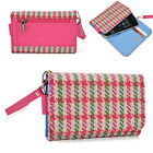 Houndstooth Protective Wallet Case Clutch Cover for Smart-Phones ECAMMT-6