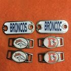 2~Denver Broncos NFL Paracord Charms Oval or Mini Dog Tag shoelace charms $7.5 USD on eBay