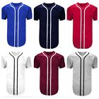 Внешний вид - Men's Baseball Jersey Raglan T- Shirt Team Sports Button Fashion Hipster Casual
