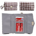 Womens Houndstooth Wallet Case Clutch Cover for Smart Cell Phones by KroO MLPK7