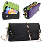 Womens PU Leather Wallet Case Cover & Crossbody Clutch for Smart-Phones MLUB16