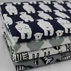 SB Polar Bears & Zebras 100% Cotton Fabric per metre