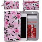 Womens Flower Pattern Wallet Case Cover for Smart Cell Phones by KroO ESMLF-5
